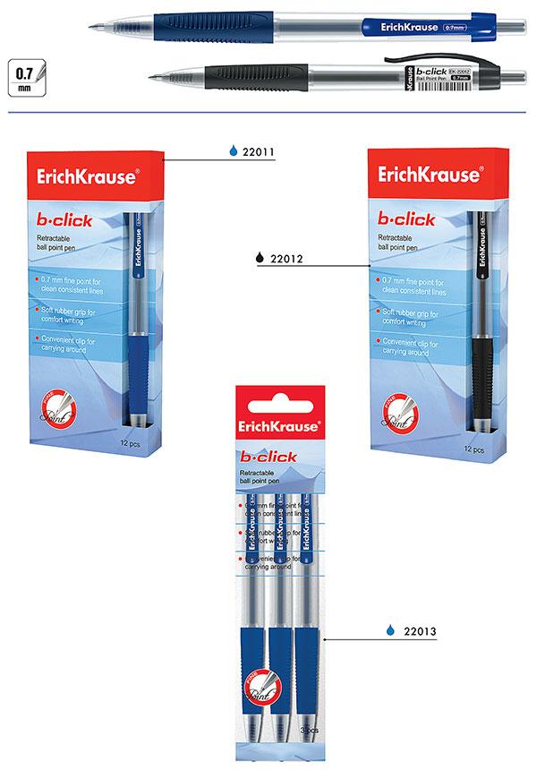 Ручка шариковая автоматическая B-CLICK, 22011